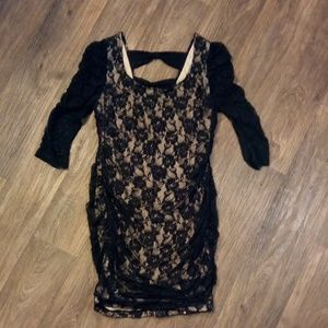 Torrid Black Lace Dress With Roses 2X